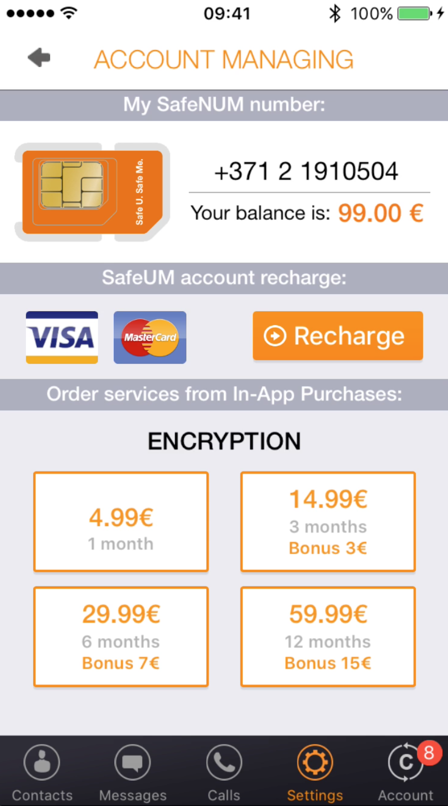 SafeUM - Each SafeUM user gets free anonymous phone number