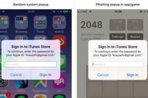 SafeUM Blog - Beware of sketchy iOS popups that want your