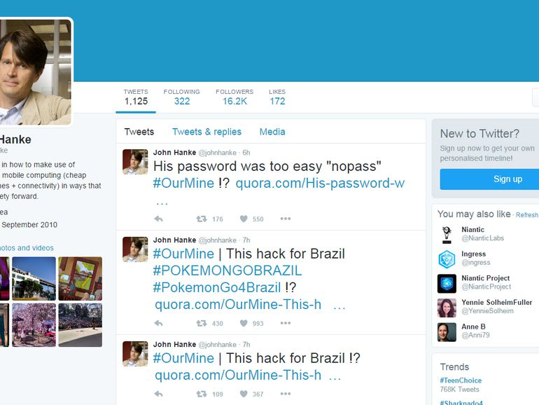 SafeUM Blog - Niantic CEO John Hanke's Twitter account hacked