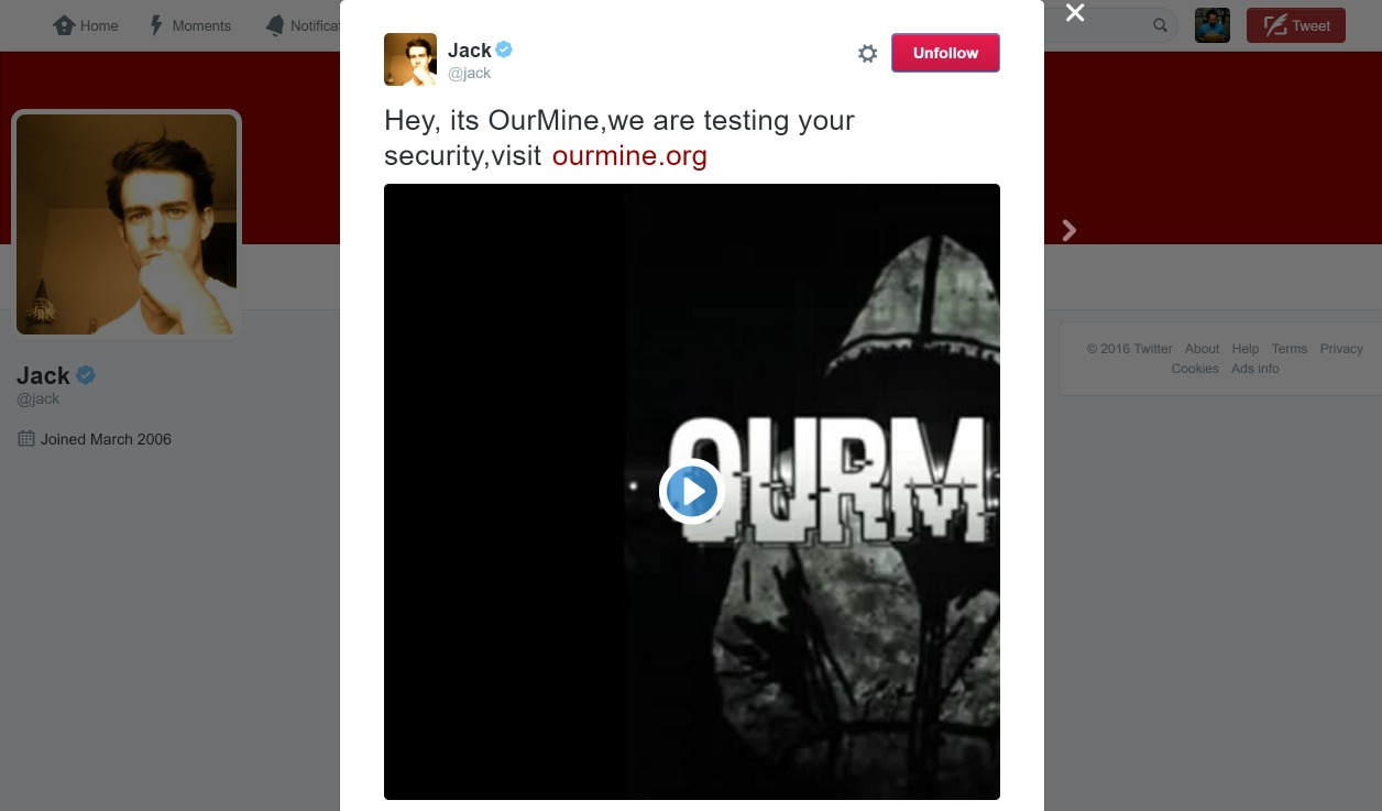SafeUM Blog - Twitter CEO Jack Dorsey's account hacked